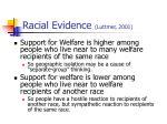 racial evidence luttmer 2001