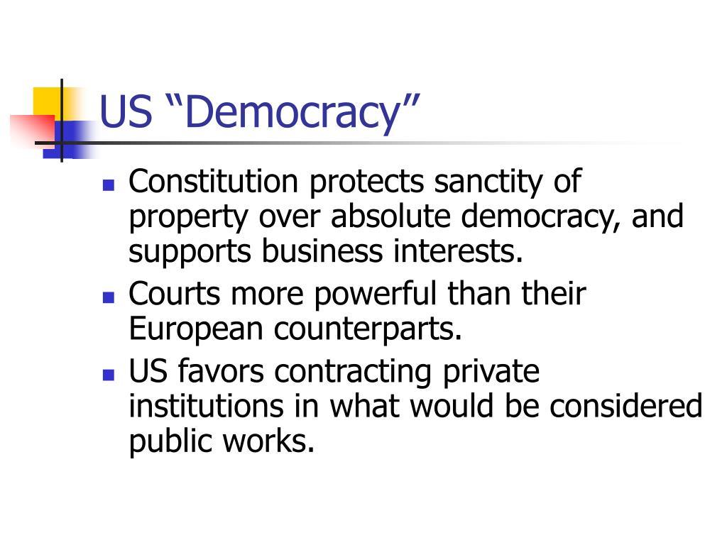 """US """"Democracy"""""""