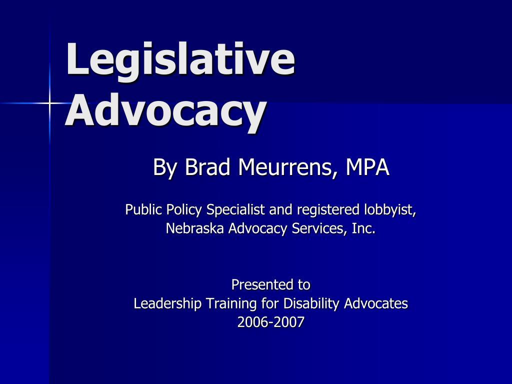 legislative advocacy l.
