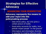 strategies for effective advocacy4