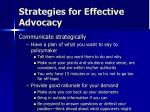 strategies for effective advocacy7