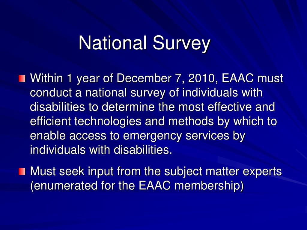 National Survey