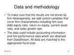 data and methodology12