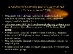 a randomized controlled trial of surgery in tle wiebe et al nejm 2001