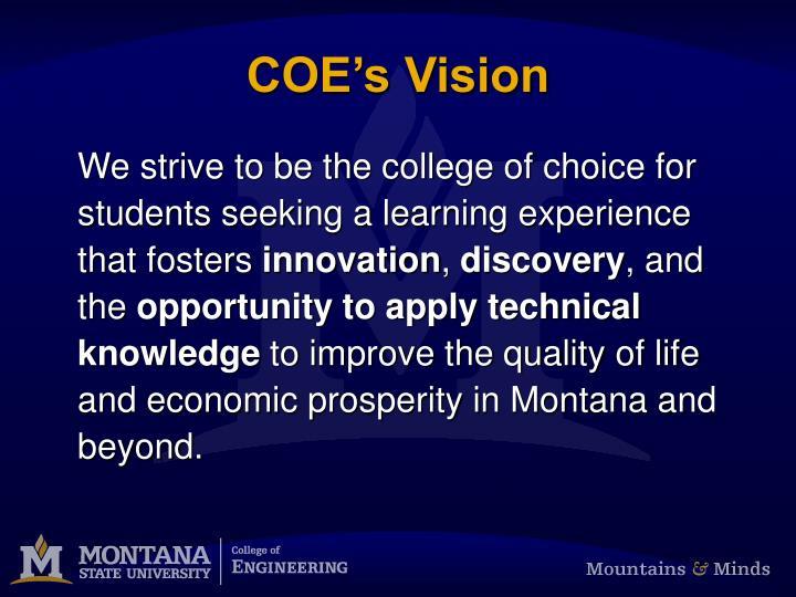 Coe s vision