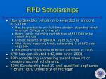 rpd scholarships
