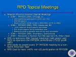rpd topical meetings