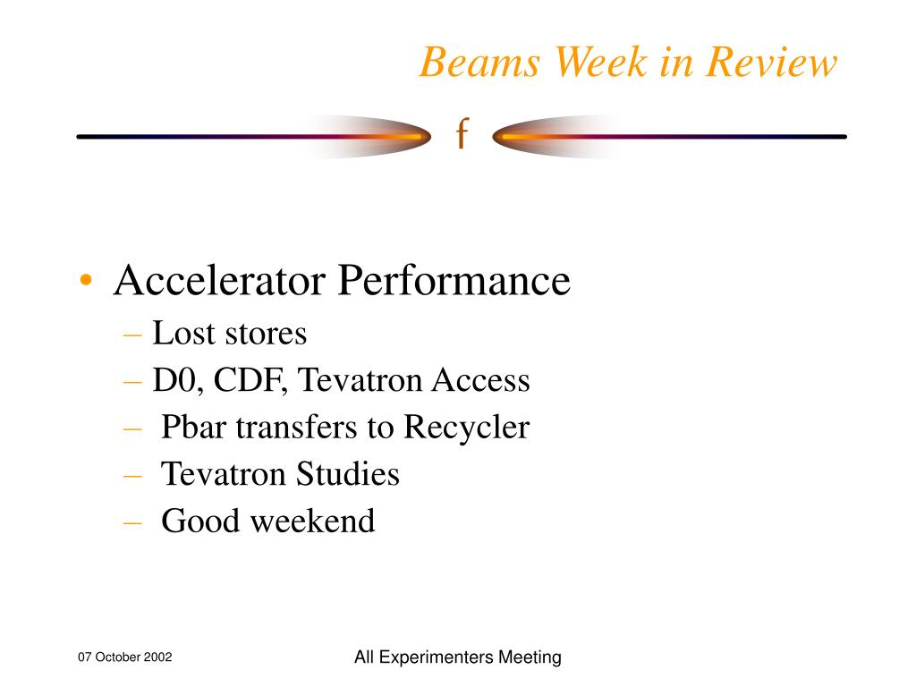 beams week in review l.