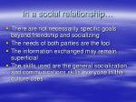 in a social relationship