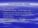 preinteraction stage