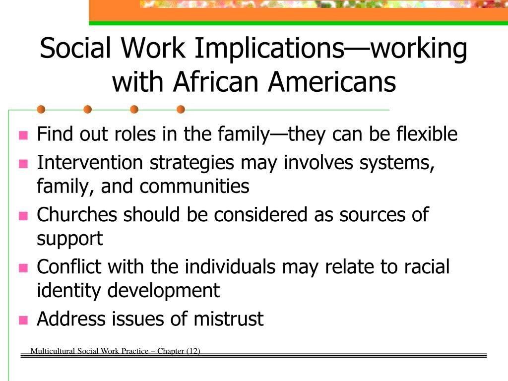 Social Work Implications—working with African Americans