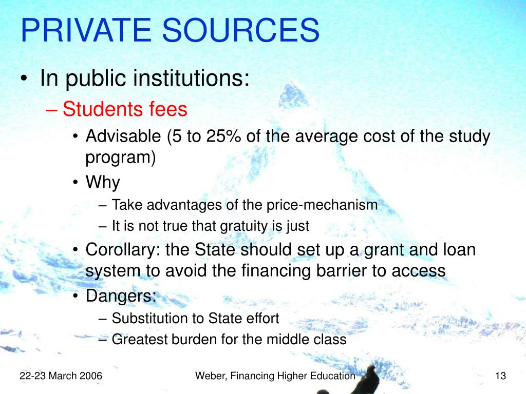 PRIVATE SOURCES