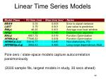 linear time series models