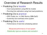 overview of research results