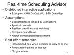 real time scheduling advisor