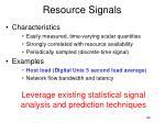 resource signals