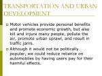 transportation and urban development30