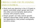 urban land use planning and control