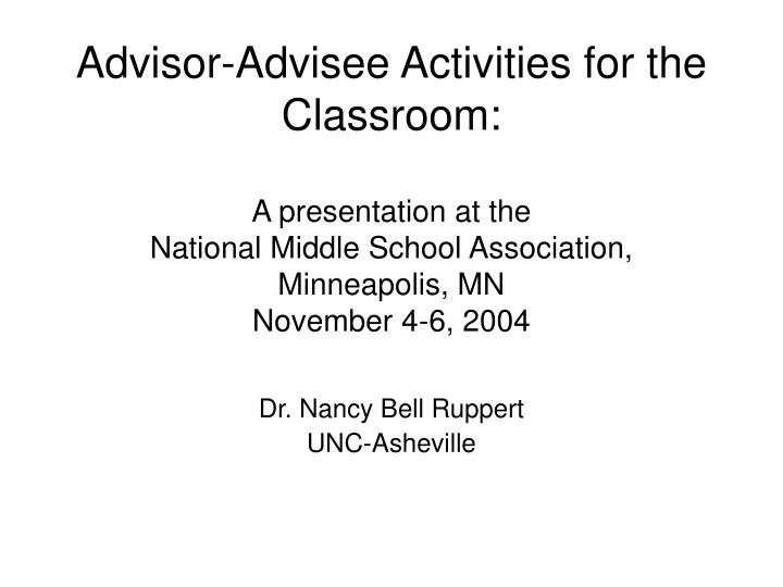 Dr nancy bell ruppert unc asheville