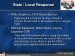 state local response