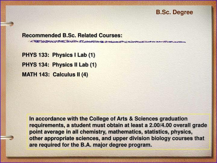B.Sc. Degree