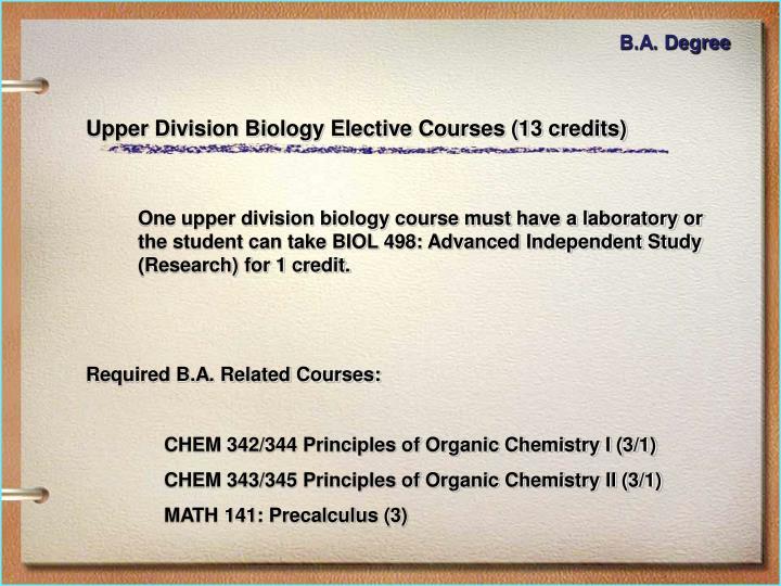 B.A. Degree