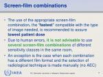 screen film combinations