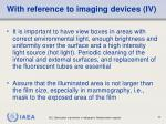 with reference to imaging devices iv