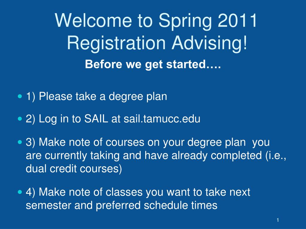 welcome to spring 2011 registration advising l.