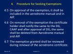 4 procedure for seeking exemptions20