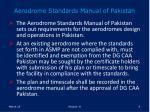 aerodrome standards manual of pakistan