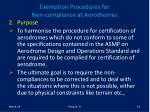 exemption procedures for non compliance at aerodromes10