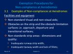 exemption procedures for non compliance at aerodromes11