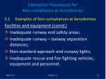 exemption procedures for non compliance at aerodromes12