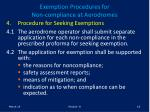 exemption procedures for non compliance at aerodromes18