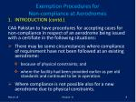 exemption procedures for non compliance at aerodromes9