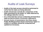 audits of leak surveys