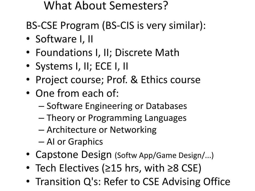 What About Semesters?