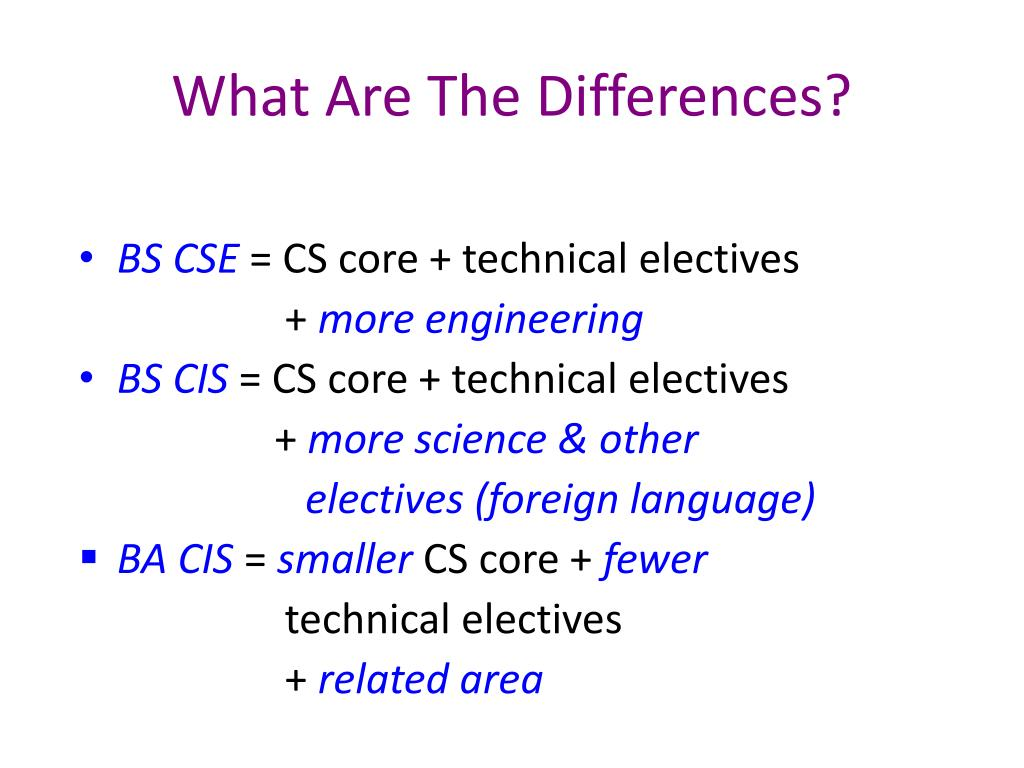 What Are The Differences?