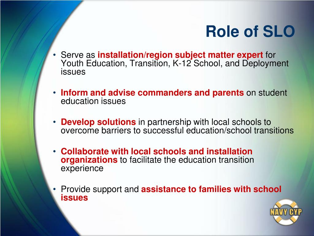 Role of SLO