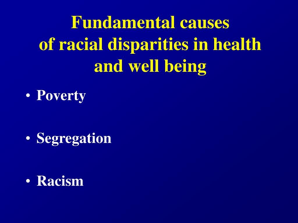 Fundamental causes