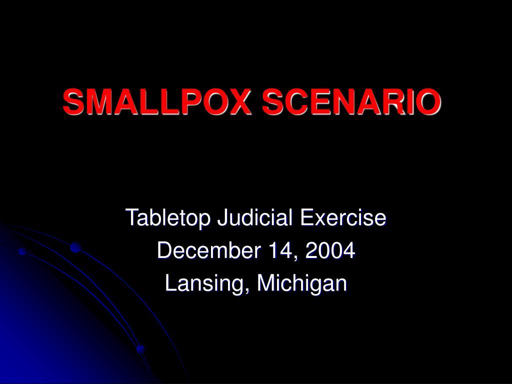 smallpox scenario