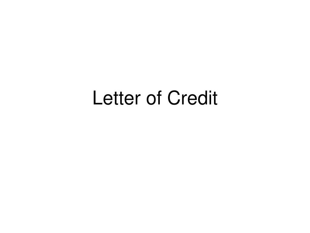 letter of credit l.