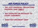 air force policy