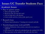 issues uc transfer students face