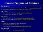 transfer programs services