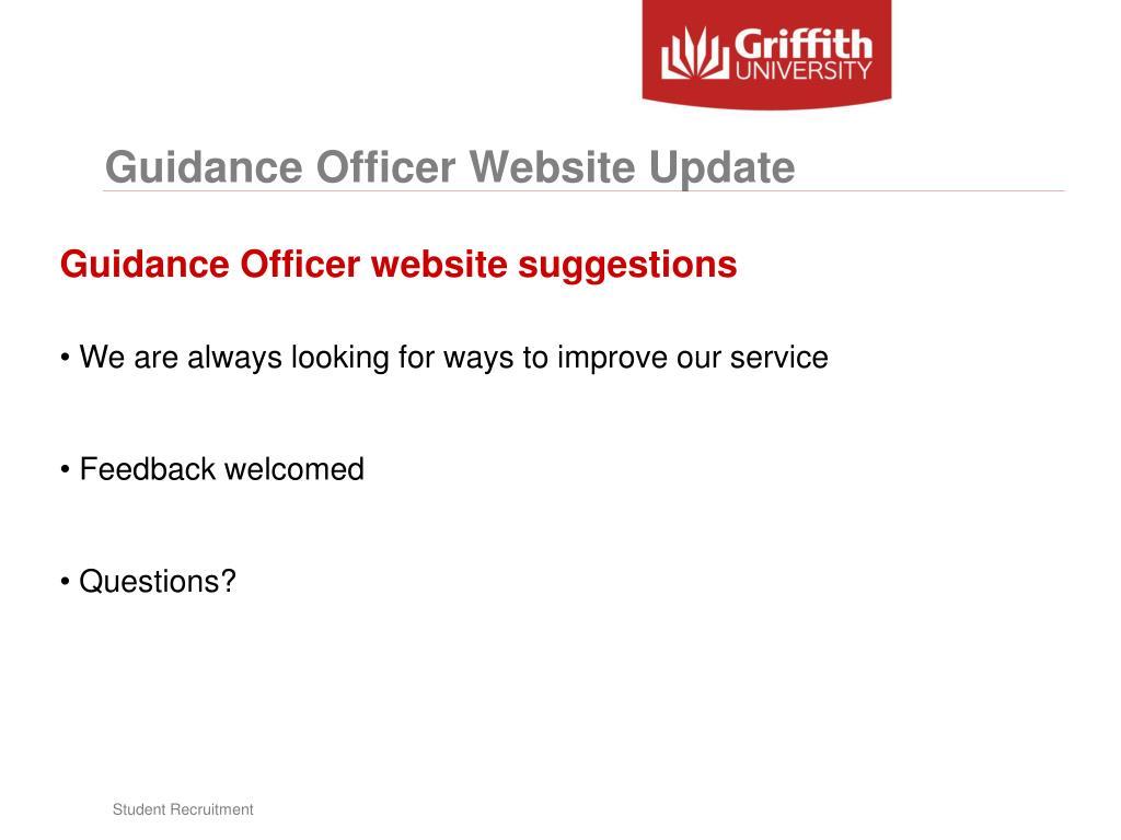 Guidance Officer Website Update