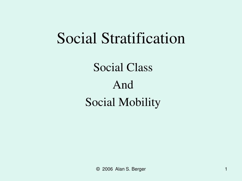 social stratification l.