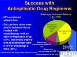 success with antiepileptic drug regimens