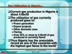 gas utilization in nigeria